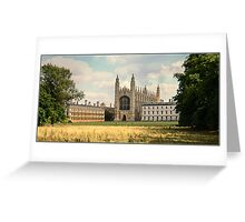 Kings College Chapel Greeting Card