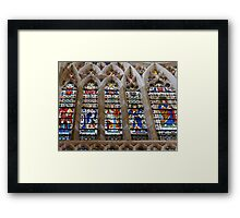 Stunning Stained Glass Windows Framed Print