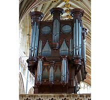 Voice of Thunder - Exeter Cathedral Organ Pipes Photographic Print