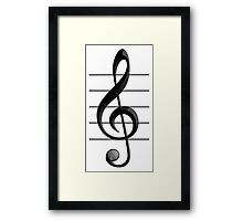 MUSIC, Note, Treble Clef, Triple Clef, Clef Framed Print