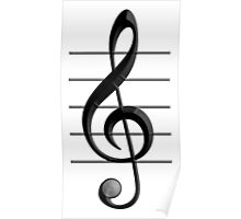 MUSIC, Note, Treble Clef, Triple Clef, Clef Poster