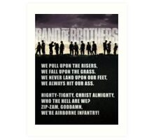 Band of Brothers - Airborne Infantry Art Print