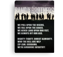 Band of Brothers - Airborne Infantry Canvas Print