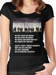 Band of Brothers - Airborne Infantry Women's Fitted Scoop T-Shirt
