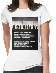 Band of Brothers - Airborne Infantry Womens Fitted T-Shirt