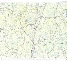 USGS TOPO Map New Hampshire NH Claremont 330400 1985 100000 by wetdryvac