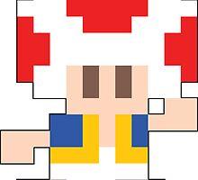 Super Mario Maker - Toad Costume Sprite by NiGHTSflyer129