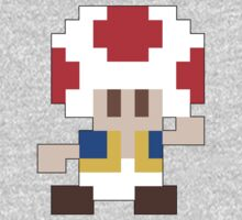 Super Mario Maker - Toad Costume Sprite One Piece - Long Sleeve
