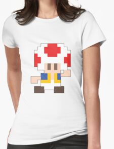 Super Mario Maker - Toad Costume Sprite Womens Fitted T-Shirt