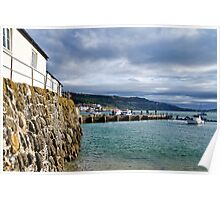 View From Back Beach ~ Lyme Regis Poster