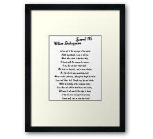 William Shakespeare Sonnet 116 T Shirt Framed Print