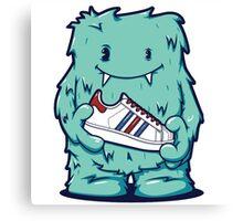 Green Tosca Monster shoes Art Design Monster Canvas Print