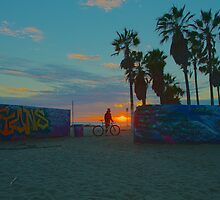 Admiring Graffiti In Venice Beach by Steve Belovarich