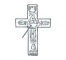 Religious Cross illustration Photographic Print