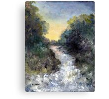 WHITE WATER COMING Canvas Print