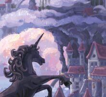 Unicorn Castle Sticker