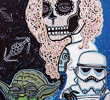 Star Wars Sugar Skull by Laura Barbosa