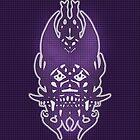 Purple Grid Clown by 319media