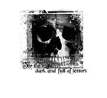 For the night is dark and full of terrors... Photographic Print