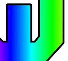 Oklahoma University Logo Rainbow Sticker