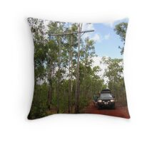 The Old Telegraph Track Throw Pillow