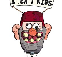 gravity falls i eat kids balloon  by claritykiller