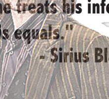 Sirius telling the truth  Sticker