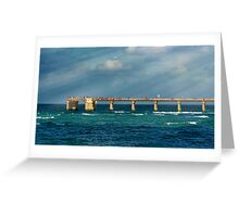Newport Fishing Pier Greeting Card