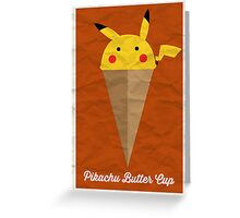 Pikachu Butter Cup Greeting Card