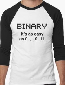 BINARY geek code funny pixels nerdy cpu linux programmer nerd Men's Baseball ¾ T-Shirt