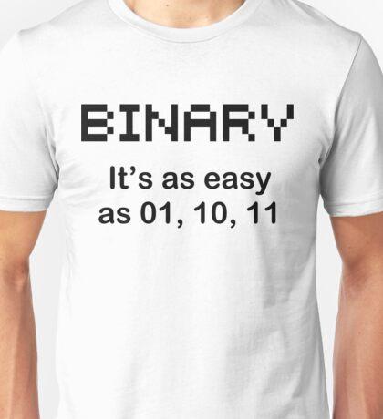 BINARY geek code funny pixels nerdy cpu linux programmer nerd Unisex T-Shirt