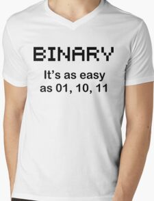 BINARY geek code funny pixels nerdy cpu linux programmer nerd Mens V-Neck T-Shirt