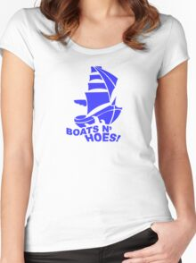 BOATS N HOES Cool Step Brothers Funny and Hilarious Women's Fitted Scoop T-Shirt
