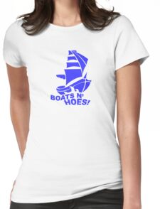 BOATS N HOES Cool Step Brothers Funny and Hilarious Womens Fitted T-Shirt
