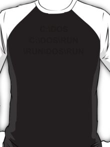 C DOS RUN funny geek nerd programming linux code reddit fan T-Shirt