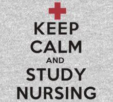 Keep Calm and Study Nursing (LS) Kids Clothes