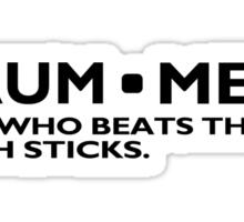 Definition of a Drummer Music Drum Sticks Rock Band Musician Geek Sticker