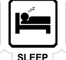 Eat Sleep Climb Mens Blue Mountaineering Rock Climbing Sticker