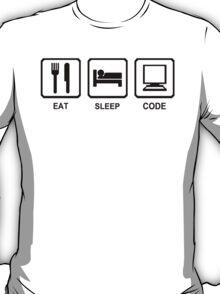 EAT SLEEP CODE funny programer developer html nerd geek T-Shirt