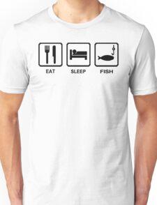 EAT SLEEP FISH funny fishing gear hunting bass outdoor Unisex T-Shirt