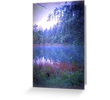 The Pond at Dusk Greeting Card
