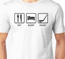 EAT SLEEP HOCKEY funny cool ice skate sport nhl canada Unisex T-Shirt
