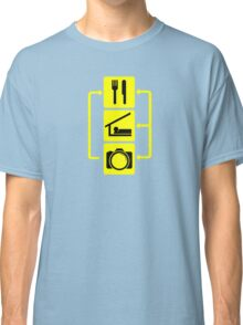 Eat Sleep Shoot Vertical Digital Camera Photography Photographer Geek Classic T-Shirt