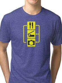 Eat Sleep Shoot Vertical Digital Camera Photography Photographer Geek Tri-blend T-Shirt