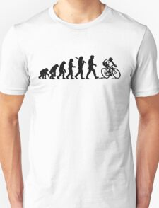 Evolution of a Cyclist Mens Black or Blue Cycling Bike T-Shirt