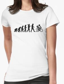 Evolution of a Cyclist Mens Black or Blue Cycling Bike Womens Fitted T-Shirt
