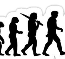 Evolution of a Fisherman Angler Mens Fishing Sticker