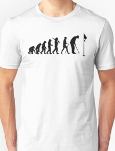 Evolution of a Golfer Mens Black Golf Top Unisex T-Shirt
