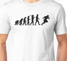 Evolution of a Rugby Player Top All Black Mens Unisex T-Shirt