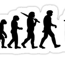 Evolution of Snooker or Pool Ape to Player Mens Black Top Gift Sticker